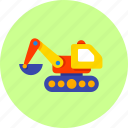 baby, building, bulldozer, construction, excavator, infant toy, newborn icon