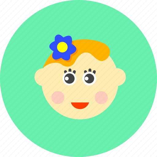 avatar, baby, female, girl, infant, lady, newborn icon