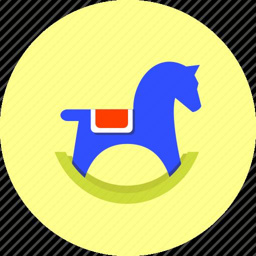 animal, horse, kids, newborn, pony, riding, toy icon