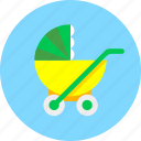 baby, infant, newborn, perambulator, pram, stroller, toy icon