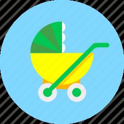 baby, infant, newborn, perambulator, pram, stroller, toy icon