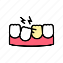 care, children, loose, orthodontics, research, tooth icon