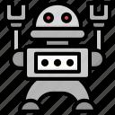 robot, toy, game, kid, baby, robotic, metallic