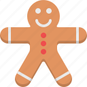 children, cookie, creative, gingerbread man, kids, kitchen, sweet icon
