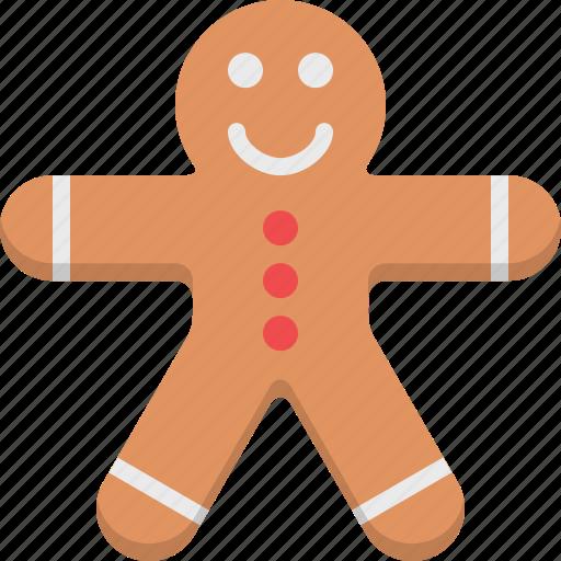 children, cookie, creative, gingerbread man, kids, kitchen, sweet icon