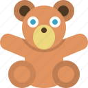 bear, infant, kids, kindergarden, teddy bear, toy icon
