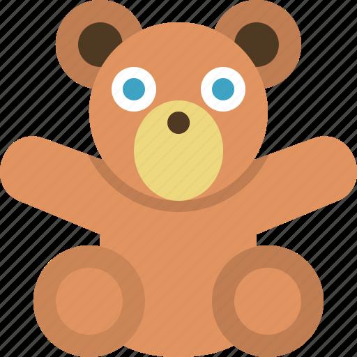 bear, infant, kids, kindergarden, teddy bear, toy icon