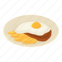 chile, food, fried, isometric, logo, lunch, object
