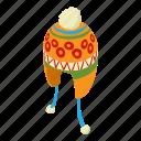 cap, hat, isometric, logo, object, winter, wool