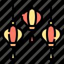 asian, china, chinese, illumination, lantern, ornamental, paper