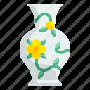 vase, flower, porcelain, antique, china, decorate, ceramic icon