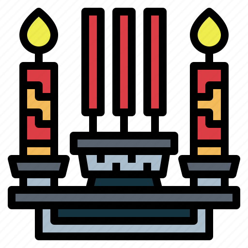 candle, chinese, flame, light icon