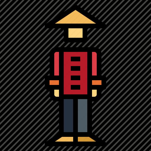avatar, chinese, man, people icon