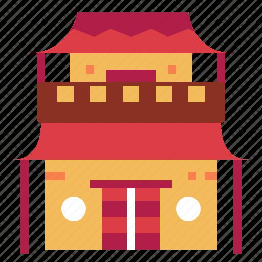 architectonic, asia, china, houses icon