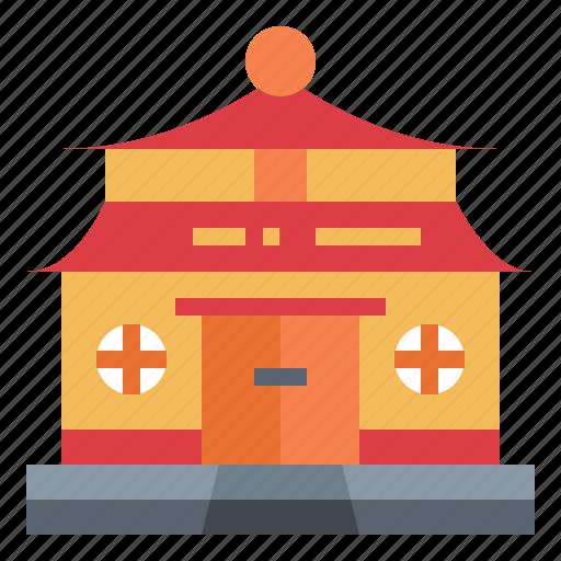 architectonic, building, china, temple icon