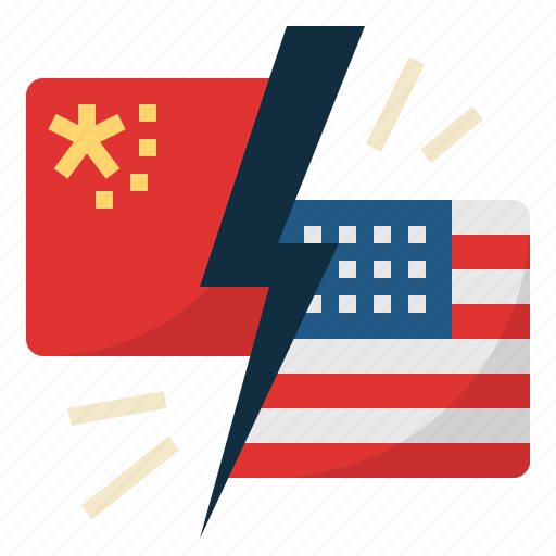 ameriacan, china, china and us trade war, competition, trade war icon