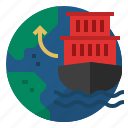 china and us trade war, export, logistics, ship, shipping, trade icon