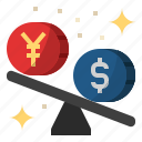 china, china and us trade war, currency, dollar, yaun appreciate, yuan icon