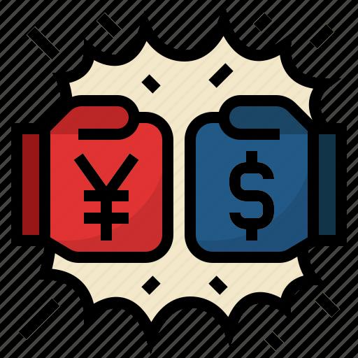 american, china, china and us trade war, dollar, trade war, yuan icon