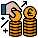 financial, foreign direct investment, investment, money, pound icon