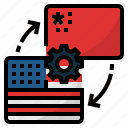 china and us trade war, knowhow, knowledge transfer, process, technology transfer icon