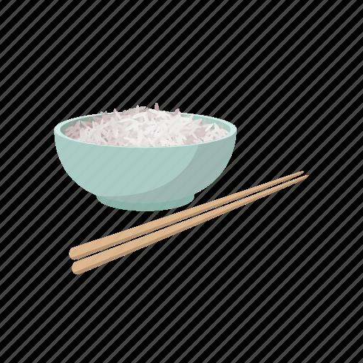bowl, cartoon, chinese, diet, food, grain, rice icon