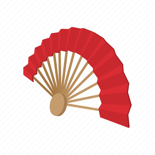 asia, asian, cartoon, fan, fold, japan, wind icon