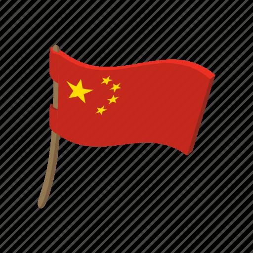 cartoon, china, flag, flying, landmark, nation, national icon