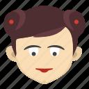 avatar, chinese, face, female, girl, lady, skin icon