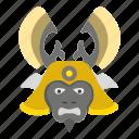 avatar, chinese, dead, emoji, emotion, face, samurai icon