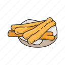 chinese cruller, chinese cuisine, chinese food, cruller, dish, food, snack icon