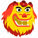 celebration, chinese, dance, dancing, head, lion, new year icon