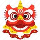celebration, chinese, dance, dancing, head, lion, chinese new year