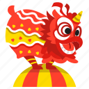 balance, celebration, chinese, dance, dancing, lion, show icon