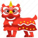 celebration, chinese, dance, dancing, lion, new year icon
