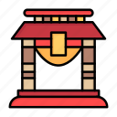 bridge, china, chinese, door, new, newyear, year icon