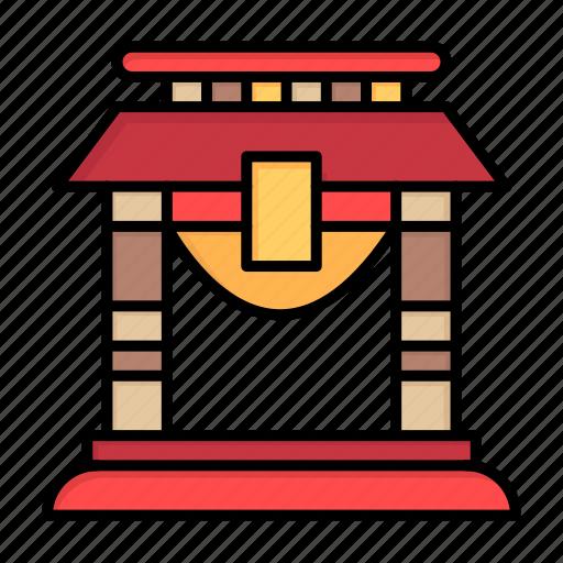bridge, china, chinese, door, new, newyear, year icon