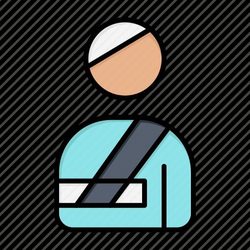 Hospital, injured, patient, user icon - Download on Iconfinder
