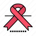 cancer, medical, oncology, ribbon icon