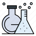 flask, lab, test, tube icon