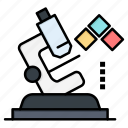 lab, medical, microscope, science icon