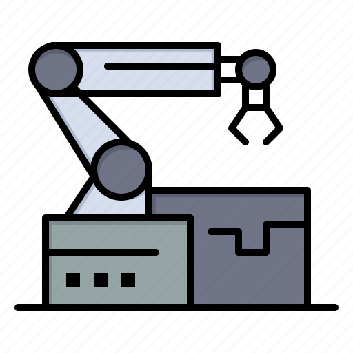 arm, atoumated, robotic, technology icon