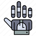 golve, hand, technology, tracking icon