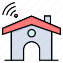 house, service, signal, wifi icon
