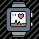 handwatch, heart, love, watch icon