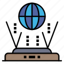 connect, globe, internet, router icon