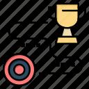 achievement, path, success, target, win icon