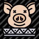 animal, chinese, head, pig icon