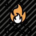 blaze, bonfire, campfire, fire, flame icon
