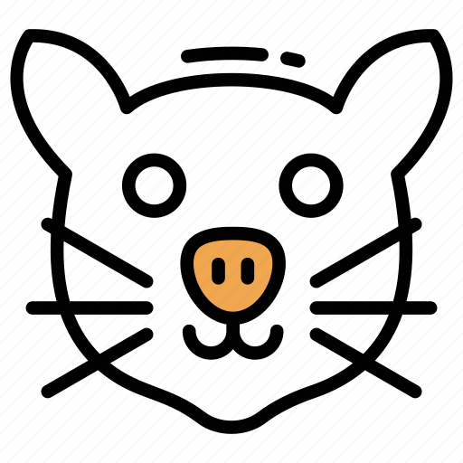 mammal, mouse, rat face, rodent, wild animal icon